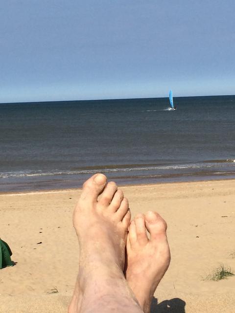 Manner nackt am strand