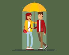 Perfekte Dates bei Regenwetter: 8 Date Ideen