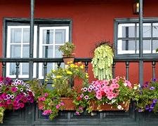 Dekorationen für den Balkon