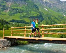Aktive Erholung in der Bergwelt der Alpen, Rauriser Tal, Salzburger Land
