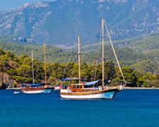 Mit dem Segelschiff der türkischen Küste entlang